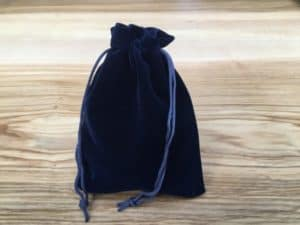 navy blue pouch