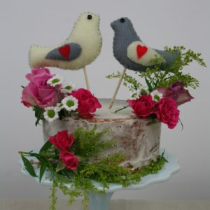 love bird cake topper