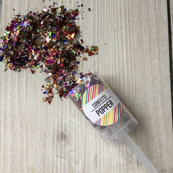 Multi-Coloured Confetti Popper