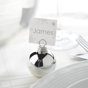 bauble name card holder