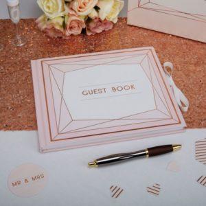 Geo Blush Guest Book