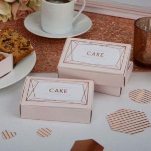 Geo Blush Cake Boxes