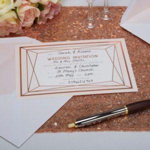 Geo Blush Invitations