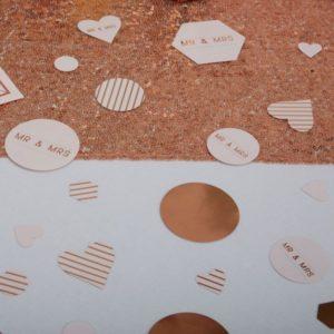 Geo Blush Table Confetti