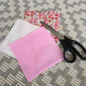 Cut squares fabric